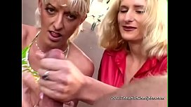 Double The Blonde handjob 3some