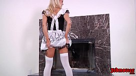Alix Lynx In Her Super Hot And Sexy Maid Outfit