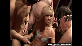 Sex party Gangbang fuckers at a real sex club