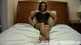 Shoot your cum between my toes you dirty boy JOI