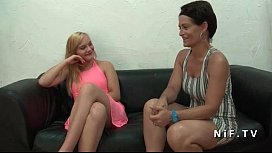Pretty amateur young french blonde hard banged for her casting couch