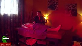 Horny experience on the massage table SAN