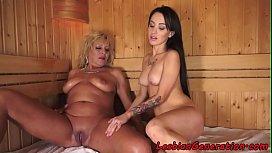 Bigtits grandma pu icked in sauna