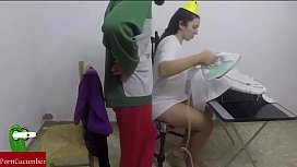Ironing and ironing and then blowjob with cum in your mouthRAF