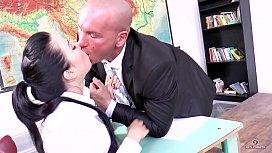 Russian schoolgirl Taissa Shanti dances over his teacher cock (short version)