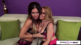Jessica Jaymes &amp_ Kiki Daire sucking a monster cock, big boobs &amp_ big booty