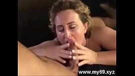BBW german blonde mature sucks and fucks a big cock