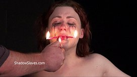 Hot wax punishment and amateur of crying Isabel Dean in extreme bondage and