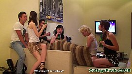 Aspen and Berta cocksucking at college party