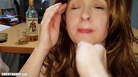 Naturally busty submissive MILF Britney Swallows. Real amateur fucking &amp_ sucking. Big tits, Beer &amp_ Cigarettes!