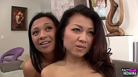 Step daughter joins stepmom in threesome