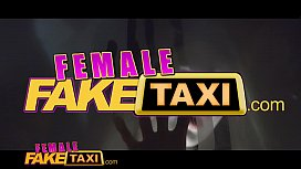 Female Fake Taxi Lesbian sex toy play and pussy licking orgasms in UK flat