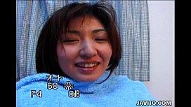 Japanese sweetie Hitomi Ikeno fucked uncensored