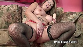 Mature slut Sandie Marquez stuffs her pussy with a toy