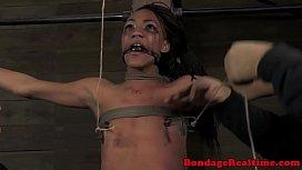 Tied up ebony Nikki Darling tormented
