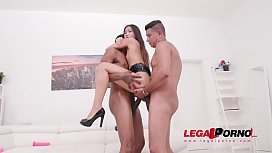 May Thai fills her ass with oil and farts it out during anal &amp_ DP with two BBC