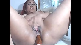 bbw going dirty with dildo