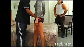 Dirty swinger couple lets wife to be banged by a black!