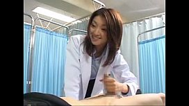 Japanese female doctor makes her patient cum