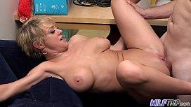 MILF Trip - Super horny blonde big-boobed MILF can't get enough cock