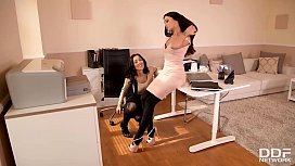 Lesbian Milfs Darce Lee &amp_ Alyssia Kent get wet and horny at the office