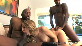 PrivateBlack - Chastity Lynn Blindfolded & DP'd By 2 BBCs!