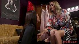 Lesbians Enjoy Hardcore Sex With Strap on Dildo