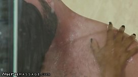NuruMassage Young Babe Masseuse Gets Romantically Pounded By Her Charming Client