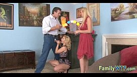Mom and daughter threesome 1204