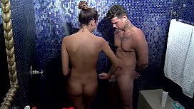 Ad&aacute_m &amp_ Melani shower sex part 1 &Eacute_den Hotel