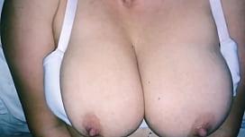 BBC Cums On White Milf Tits