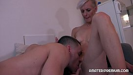 Czech Milf Espoir has randy young boyfriend. She enjoys esch minute of sex with him