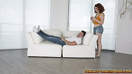 Annabel Redd rides on Peters cock til she orgasms multiple times