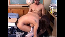 Sexy MILF in stockings gets shafted