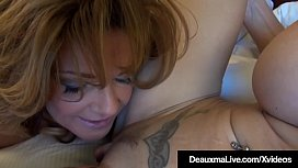 Mature Mommies Deauxma &amp_ Brooke Tyler Share A Double Dildo!