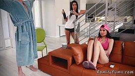 Teen slave gangbang Family Shares A Bed