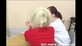 Catholic schoolgirls show each other their panties
