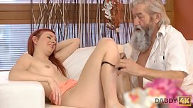 DADDY4K. Guy and his old daddy team up to punish slutty girlfriend
