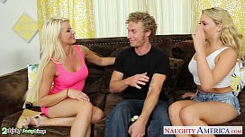 Blondes Anikka Albrite and Mia Malkova fucking in threesome rokettube