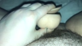 HAIRY PUSSY FUCKED BY DILDO