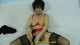 Eliane 71 years ass fucked by a young black