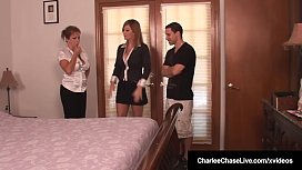 Milf Charlee Chase & Hubby Fuck Amber Lynn Bach In 3Some!