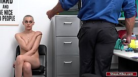 Blonde thief fucked by horny LP officer