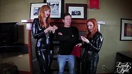 Lauren Phillips & Lady Fyre work a fat cock together ffm Gingers executrix femdom