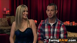 Bus orgy and costume play with swingers in reality show