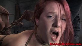 Ashley Lane BDSM slut slapped in face