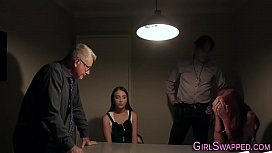 Teen dominated by stepdad cop for pounding