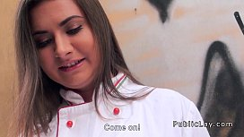 Russian cook from streets anal banged pov