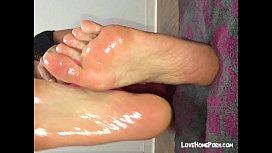 My gi iends oiled feet