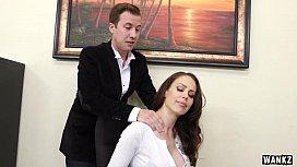 Huge Titty Cougar Boss McKenzie Lee Cums Hard